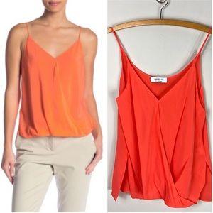 Bailey 44 100% Silk Tank Top Red Orange Sleeveless